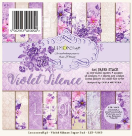 Paperpad 15.2 x 15.2 cm Violet Silence 36 vel - Lemon Craft