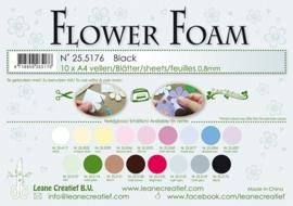 25.5176 Flower foam sheets A4 0.8mm. Black - per stuk