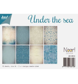 6011/0514 Paperbloc A4 a 12 vel - Under the Sea - Joy Crafts