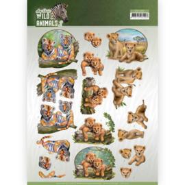 CD11302 3D knipvel A4 - Wild Animals - Amy Design