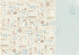 PD32011 Scrappapier Dubbelzijdig - Cherry Blossom Lane - Pion Design