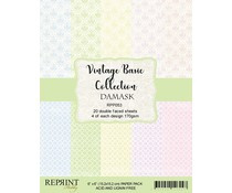 RPP053  Paperpad Reprint 6x6 Inch - Damask