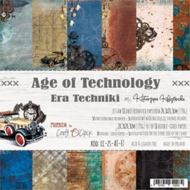 Paperpad 20,3 x 20,3 cm - 18 vel - Age of Technology - Craft o Clock