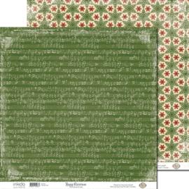 SM12484 Scrappapier dubbelzijdig - Christmas Carol - Inkido