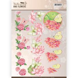 CD11003 Knipvel A4  - Butterflies and Flowers- Jenine's Art