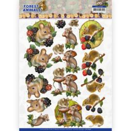 CD11648 3D vel A4 - Forest Animals - Amy Design