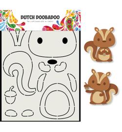 470.713.797 Dutch Card Art A5 Eekhoorn - Dutch Doobadoo