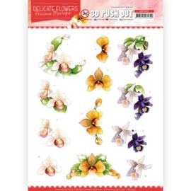 SB10450 Stansvel 3D A4 - Delicate Flowers - Marieke Design