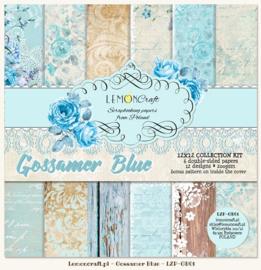 Paperpad 30.5 x 30.5 cm Gossamer Blue - 6 vel - Lemon Craft