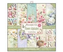 Paperpad 30.5 x 30.5 cm Flower Alphabeth - Stamperia