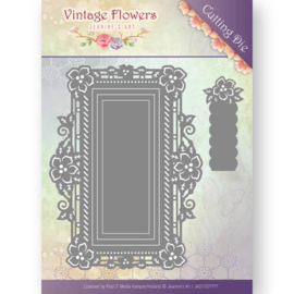 JAD10035 Snij- en embosmal - Vintage Flowers - Jenine's Art