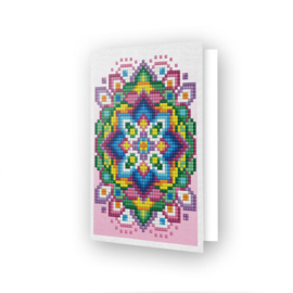 DDG.024 Diamond Dotz - Greeting Card - Pink Star