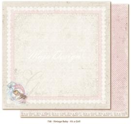738 Scrappapier dubbelzijdig - Vintage Baby - Maja Design