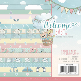 YCPP10014 Paperpad - Welcome Baby - Yvonne Creations
