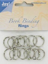 6200-0120 Bindringen zilver 20mm - 12 stuks - Joy Crafts