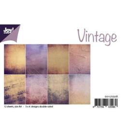 6011/0508 Paperbloc A4 a 12 vel - Vintage - Joy Crafts