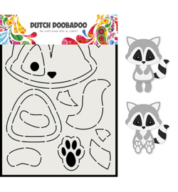 470.713.817 Dutch Card Art A5 Wasbeer - Dutch Doobadoo