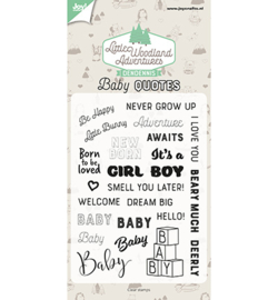 6410/0515 Clearstempel Baby Quotes - Joy