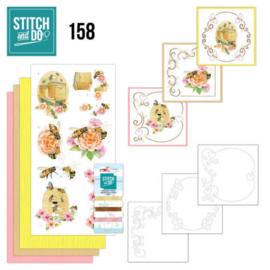 Stitch and Do 158 - set voor 3 borduurkaarten