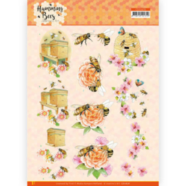 CD11676 3D vel A4 - Humming Bees - Jeanines Art