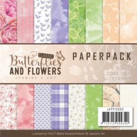 JAPP10001 Paperpad - Classic Butterflies and Flowers - Jenine's Art