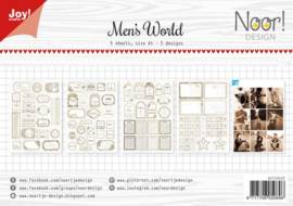 6011-0425 Labelsheets Mans World - Papierset A4 - Joy Crafts