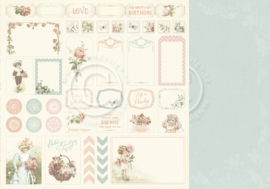 PD18012 Scrappapier dubbelzijdig - Life is Peachy - Pion Design