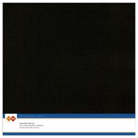 31 Zwart - Linnen Karton 30,5 x 30,5cm - 10 stuks - 200 grams - Card Deco - PAKKETPOST!!