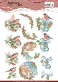 CD11363 3D Knipvel A4  Kerst - Jeanine's Art
