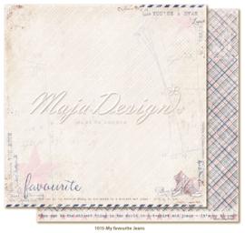 1015 Scrappapier dubbelzijdig - Denim en Girls - Maja Design