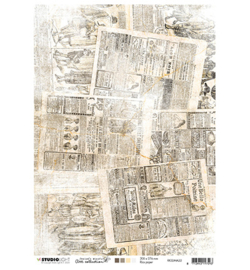 RiceJMA22 Rice paper A4  - Jenine's Mindfull serie 3 - Studio Light