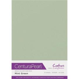 Mint - Glanskarton A4 310 grams - 10 vel - Centura Pearl