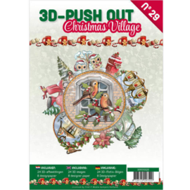 3DPO10029 3D Push Out book 29 Christmas Village