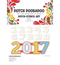 470990040 Stencil Art Cijfers - Dutch Doobadoo