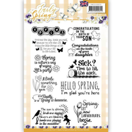 PMSC10025 Engelse tekst - Early Spring - Marieke Design