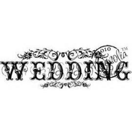 nr.558 Magnolia stempel - Tekst Wedding