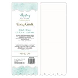 Fancy Cards Golf - 20 stuks 300 grams Wit 10,5 x 30,48cm - Mintay