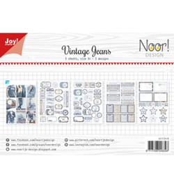 6011-0419 Paperset A4 Vintage Jeans - Joy Crafts