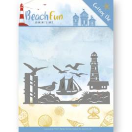JAD10039 Snij- en embosmal - Beach Fun - Jeanine's Art