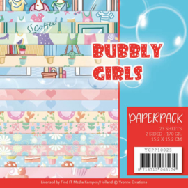 YCPP10023 Paperpad - Bubbly Girl - Yvonne Creations