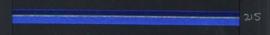 9mm lint Organza/Satijn - Blauw - 1 meter