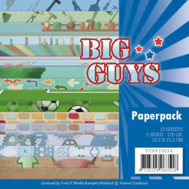 YCPP10024 Paperpad - Big Guys - Yvonne Creations