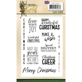 ADCS10061 Clearstempel Tekst ENG - Christmas Gold - Amy Design