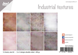 6011-0652 Industrial Textures - Papierset A4 - Joy Crafts