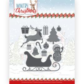 YCD10248 Snij- en embosmal  - Wintery Christmas - Yvonne Creations