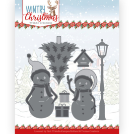 YCD10244 Snij- en embosmal  - Wintery Christmas - Yvonne Creations