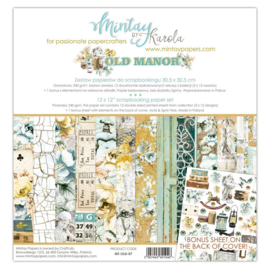 Paperpad 30.5x30.5cm - Old Manor - Mintay * PAKKETPOST *