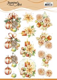 CD11537 3D Knipvel A4  Kerst - Jeanine's Art
