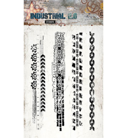 STAMPIN254 Stempel A6  - Industrial 2.0 - Studio Light