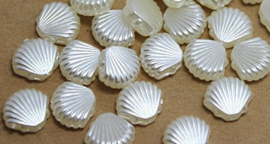 Parel schelpjes - 10 stuks - Ivoor